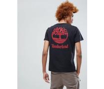 T-Shirt mit Logoprint am Rücken