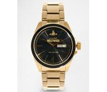 Uhr aus Gold-Metall