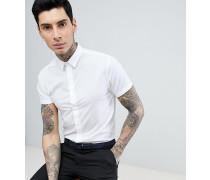 Elegantes enges Hemd mit kurzen Ärmeln