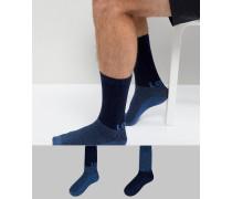 2er Pack Socken mit grafischem Logo