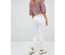 Vivienne Westwood - Anglomania - Skinny-Jeans mit hohem Bund Fransensaum und Stickerei