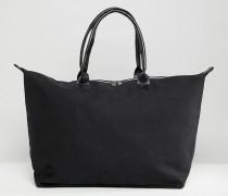 Kleine schwarze Reisetasche aus Canvas