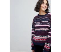 Weihnachtlicher Pullover mit Norwegermuster