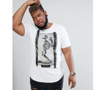 PLUS - T-Shirt mit Praying-Skull-Aufdruck
