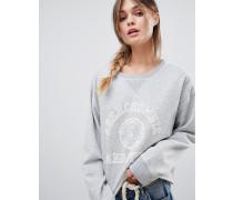 Sweatshirt mit College-Logo und Rundhalsausschnitt