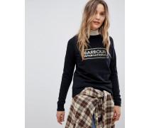 International - Sweatshirt mit Reißverschluss am Saum und Logo