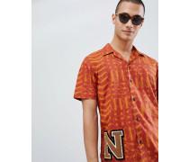 Co - Brandon - Kurzärmliges Hemd in Batik