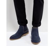 Chelsea-Stiefel aus Wildleder in Marineblau