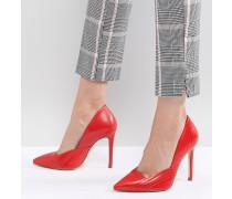 Spitze Stilettos mit plissiertem Design