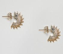 Vergoldete runde Ohrringe mit Sternendesign