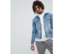 Legit - Jeansjacke in Blau Stone-Waschung