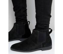 KG By Kurt Geiger - Guildford - Chelsea-Stiefel aus schwarzem Wildleder