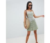 ASOS Tall - Mini-Sommerkleid aus Leinen mit Knopfleiste