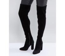 Tenesha - Overknee-Stiefel aus Samt