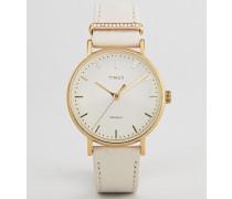 TW2R70500 Fairfielde Leder-Armbanduhr