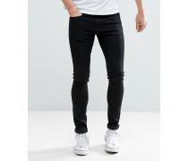 Sehr enge Skinny-Jeans in Schwarz