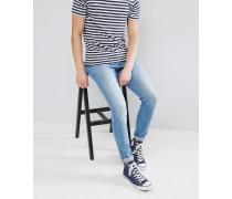 Clark Shaded - Schmale Jeans in Mittelblau