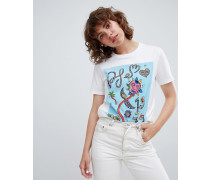 PS by Paul Smith - Buntes T-Shirt mit Grafikdesign