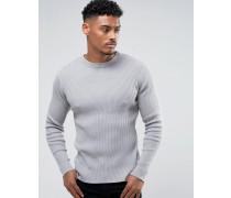 Gerippter Muskel-Pullover