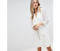 Exklusives Brautjungfern-Minikleid mit Rüschen und Wickel-Design
