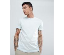 Hellblaues T-Shirt mit kleinem Logo und Rundhalsausschnitt in schmaler Passform