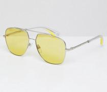 Pilotensonnenbrille mit gelben Gläsern