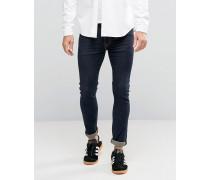 519 - Sehr enge Jeans in Indigoblau mit kontrastierenden Ziernähten