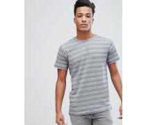 T-Shirt mit geometrischem Streifenmuster