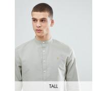 TALL - Brewer - Schmales Oxford-Hemd in Grün