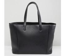 Shopper-Tasche aus Leder mit Logo