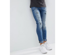 Lunar - Superenge Skinny-Jeans in heller Waschung im Used-Look