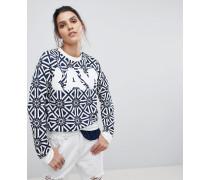 Sweatshirt mit Kachelmuster