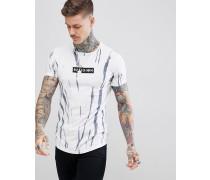 Gestreiftes Muskel-T-Shirt im Batik-Look