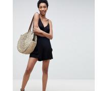ASOS DESIGN Tall - Minimalistischer kurzer Jumpsuit aus Jersey mit Taschen