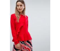 Parisa - Vorn gerüschtes Sweatshirt