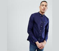 TALL - Marineblaues Oxford-Button-Down-Hemd und Logo