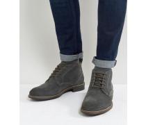 Huntington - Stiefel aus schwarzem Wildleder