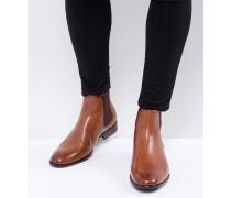 Aradowen - Hellbraune Chelsea-Stiefel aus Leder