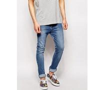 Leon - Schmal geschnittene Jeans in heller Stone-Waschung