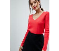Pullover mit abgesetzter überkreuzter Rückseite