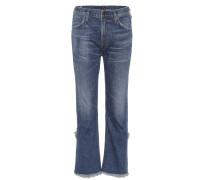 High-Waist Jeans Drew mit Fransen