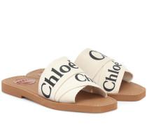 Sandalen Woody aus Canvas