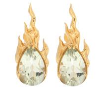 Vergoldete Ohrringe Gem in Heat aus Sterlingsilber