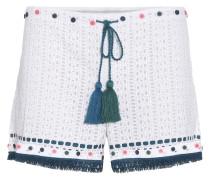 Shorts aus Baumwollspitze
