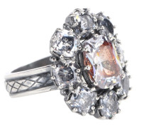 Ring aus Sterlingsilber mit Cubic-Zirkonia