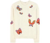 Bestickter Pullover aus Alpaka und Yak
