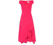 Schulterfreies Kleid mit Volants