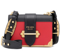 Schultertasche Cahier aus Leder