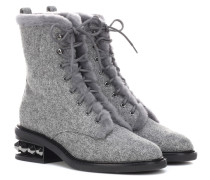 Boots Suzie aus Wolle mit Shearling