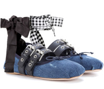 Ballerinas aus Veloursleder